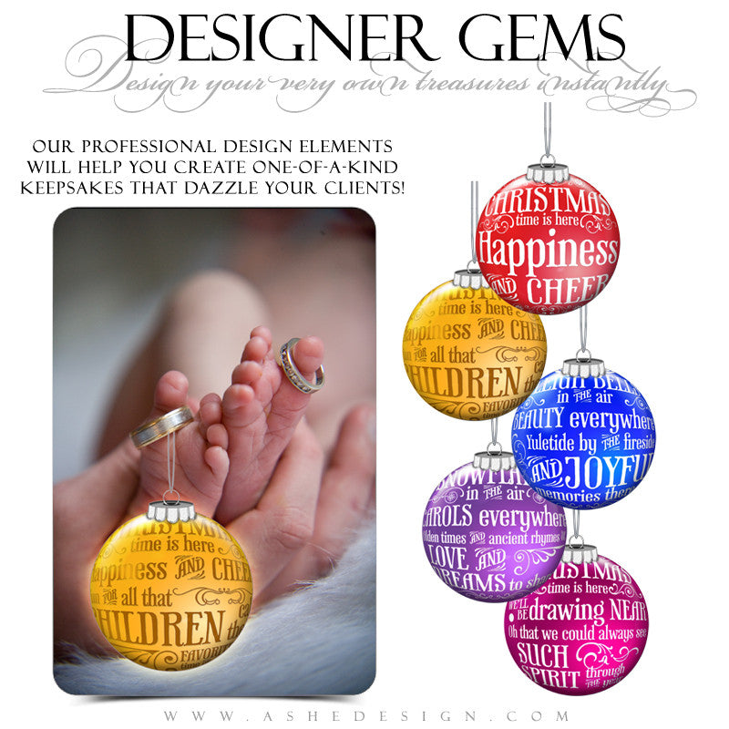 Designer Gems - Christmas Carol Ornaments Color