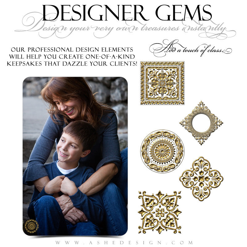 Designer Gems - Gold Leaf Foil Seals