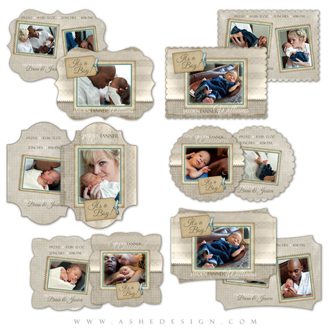 Die Cut Card Design Set - A Stitch In Time (Boy)