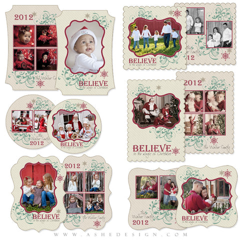 Die Cut Card Design Set - Christmas Magic