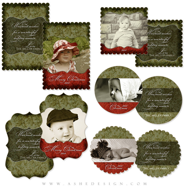 Die Cut Card Design Set - Christmas Memories