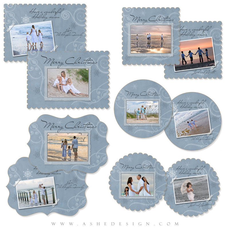 Die Cut Card Design Set - Frosted