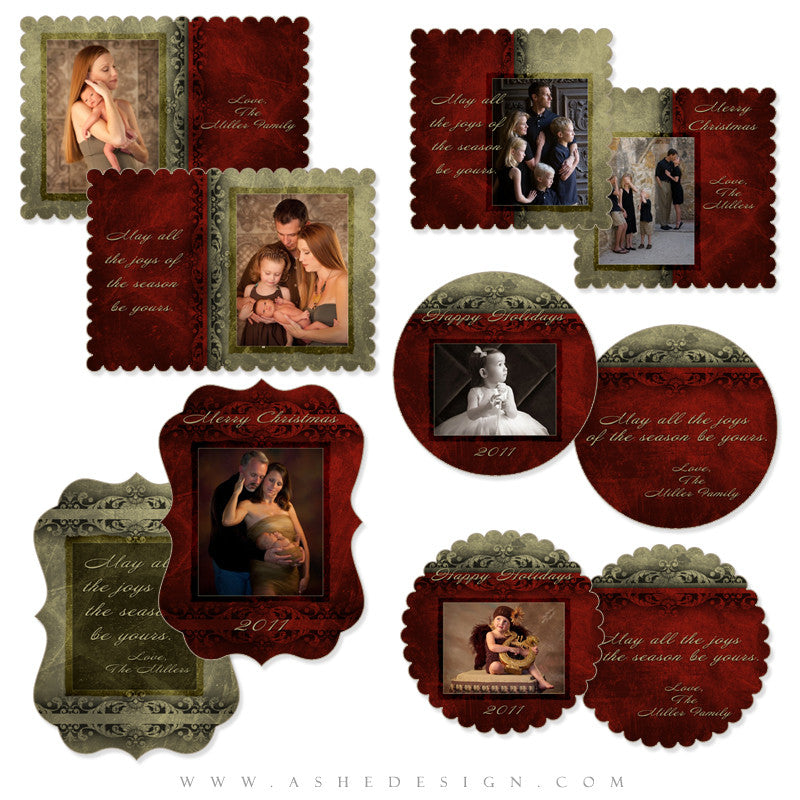 Christmas Die Cut Card Set - Holiday Luxury