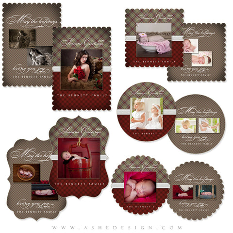 Die Cut Christmas Card Set - Perfectly Plaid