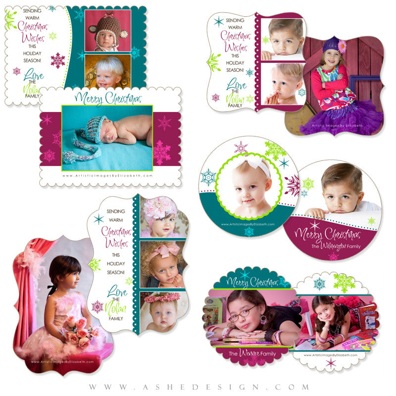 Die Cut Card Design Set - Santa Baby