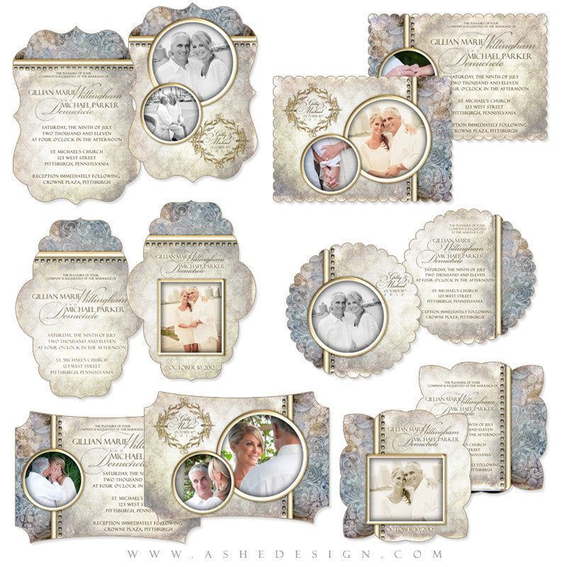 Die Cut Wedding Card Set - Something New