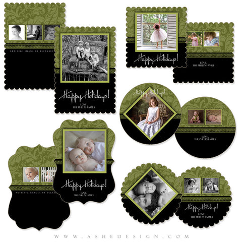 Christmas Die Cut Card Set - Sophisticated