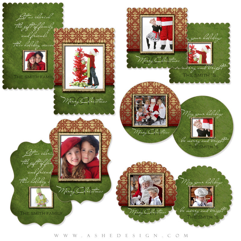 Die Cut Christmas Card Set - Velvet
