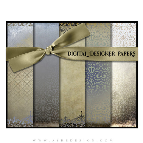 Digital Designer Paper Set - Antique Damask