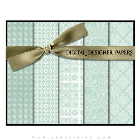 Digital Designer Paper Set - Baby Blue