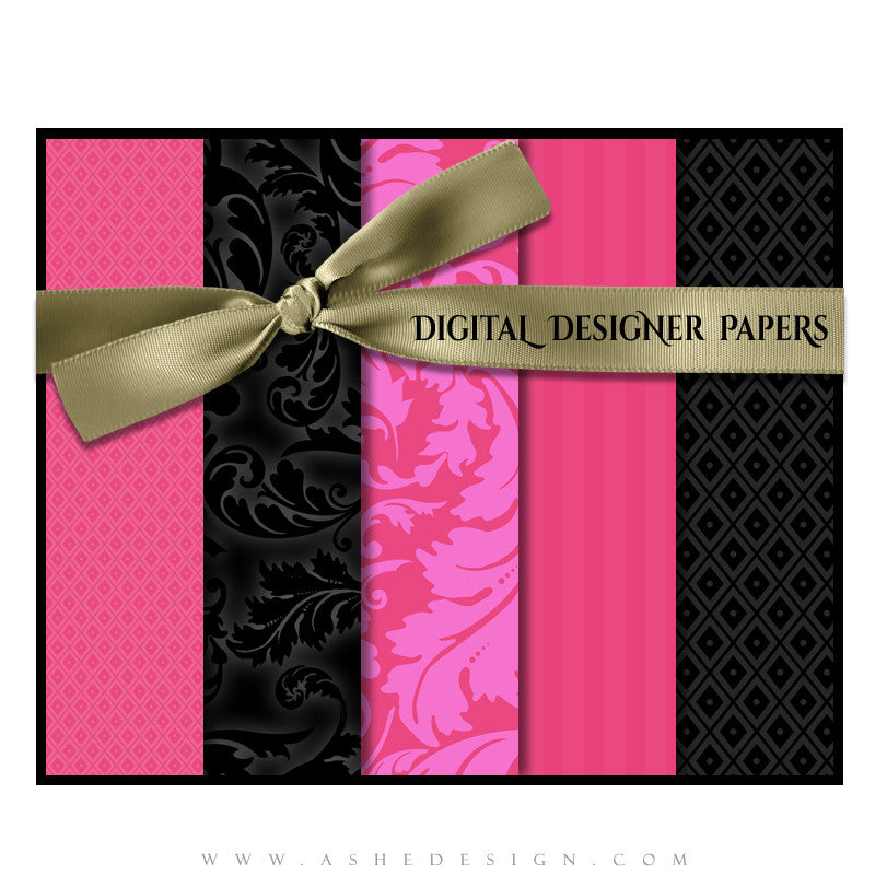 Digital Designer Paper Set - Boudoir