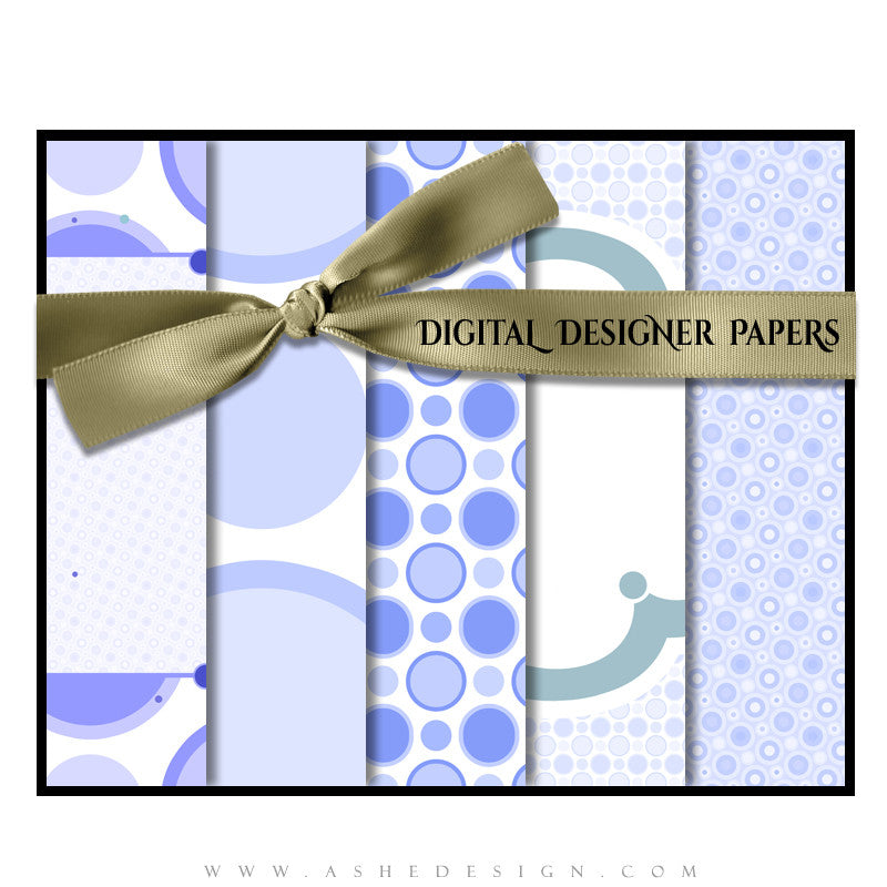 Ashe Design | Digital Designer Papers | Bubble Gum Blue