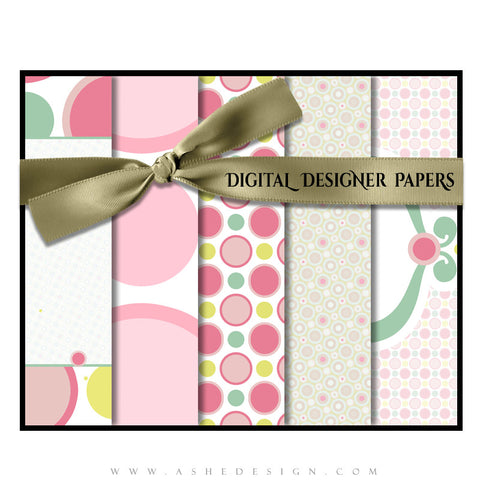 Ashe Design | Digital Designer Papers | Bubble Gum Pink