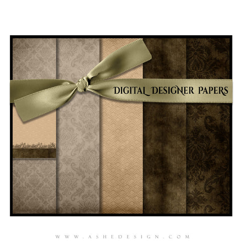 Digital Designer Paper Set - Chocolate Silk