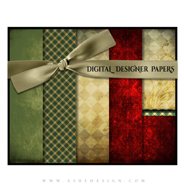 Digital Designer Paper Set - Christmas Couture