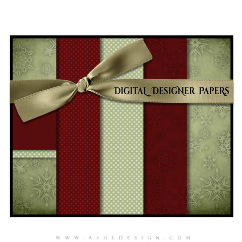 Digital Designer Paper Set - Dear Santa