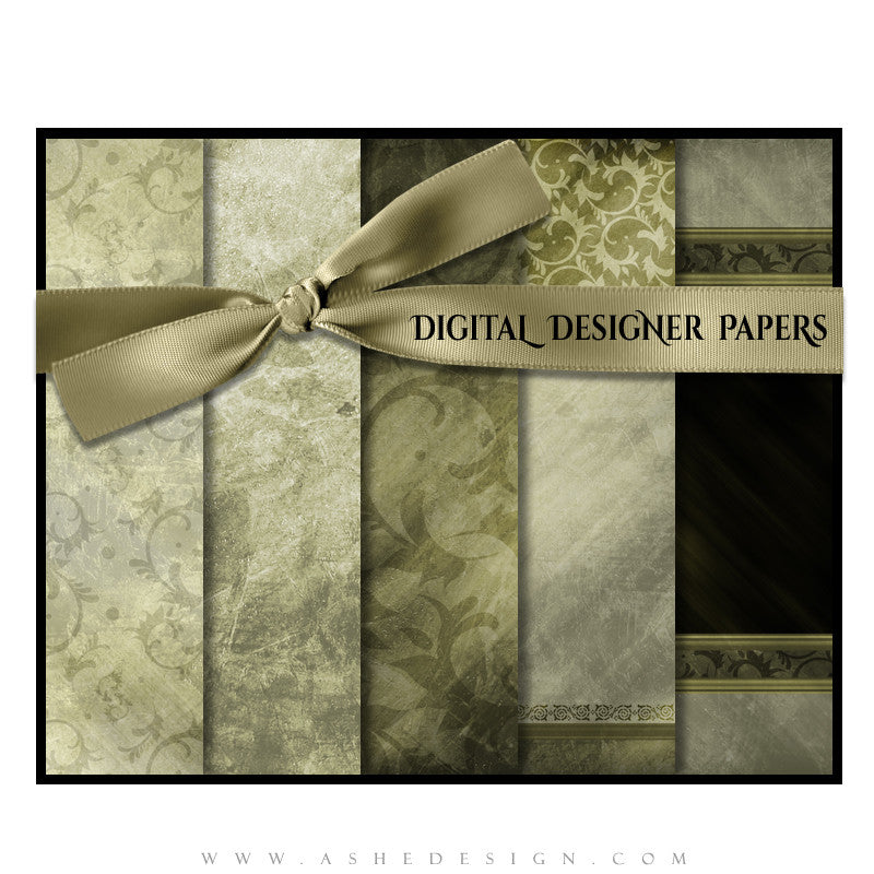 Digital Paper Set | Elegant Brushed Grunge (Vol. 2) full set