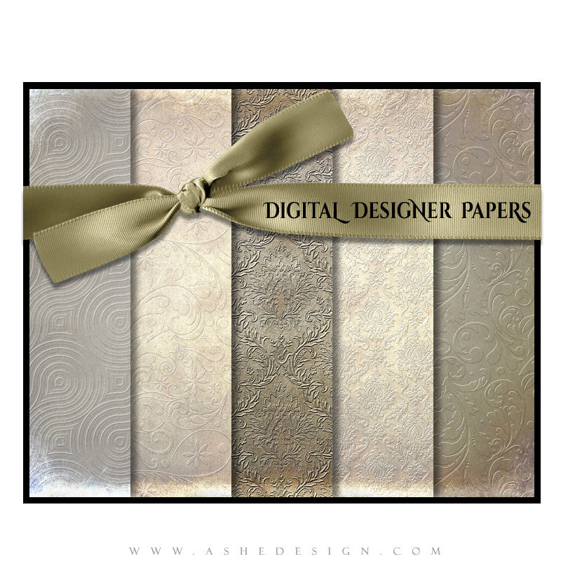 Digital Designer Paper Set - Embossed