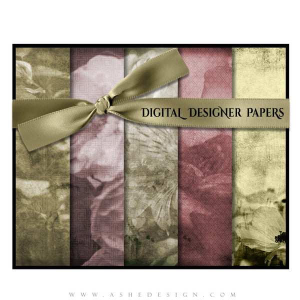 Digital Designer Paper Set - Flowers (Vol. 1)