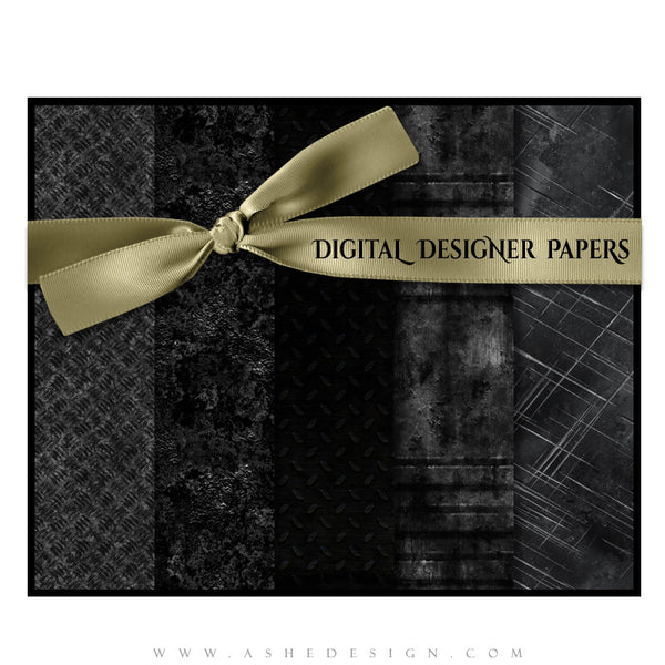 Digital Designer Paper Set - Heavy Metal