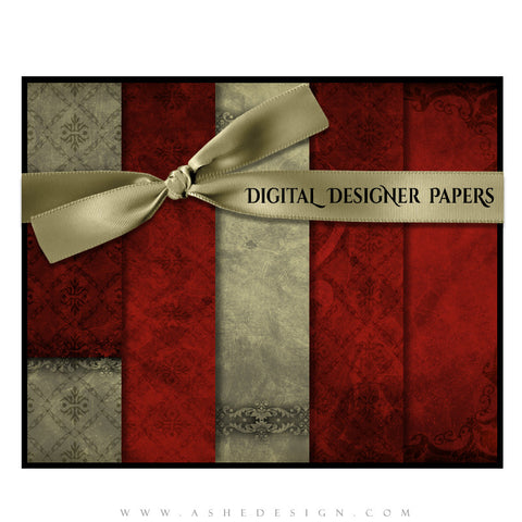 Digital Designer Paper Set - Holiday Luxury
