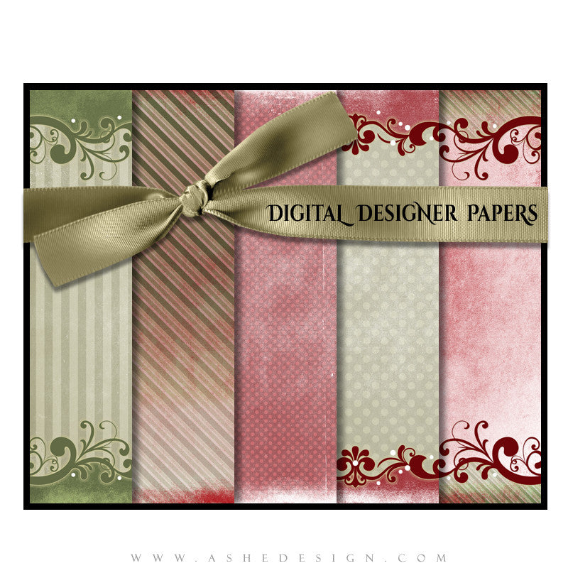 Digital Designer Paper Set - Holiday Wish