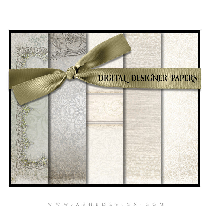 Digital Designer Paper Set - I Do