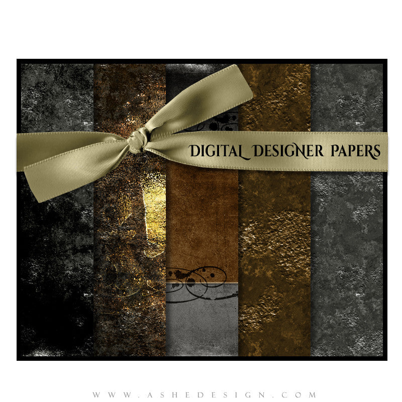 Digital Designer Paper Set - Inked
