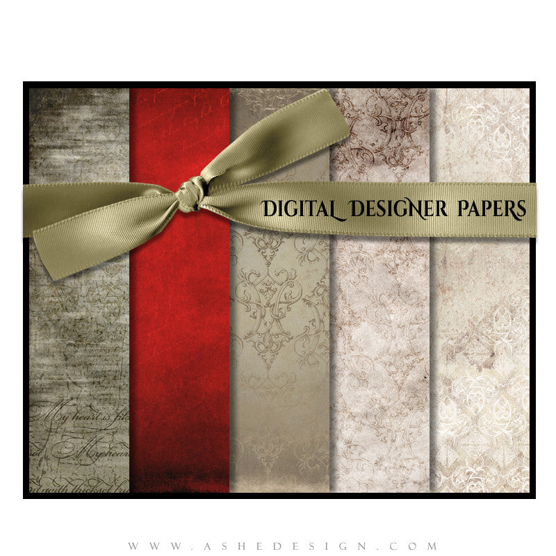 Digital Papers | Love Letters set