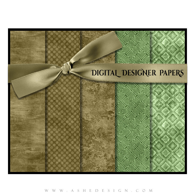 Digital Designer Paper Set - Mint Chocolate