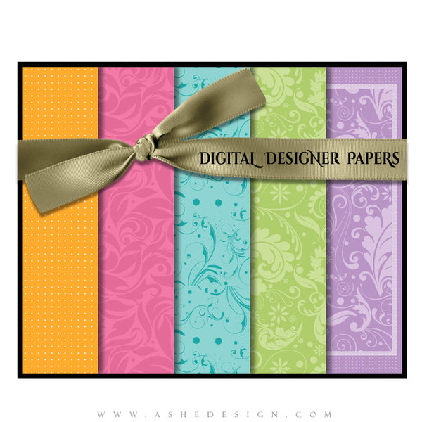 Digital Designer Paper Set - Pretty Pastel