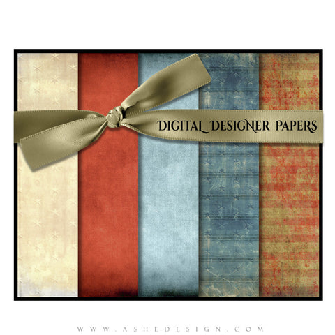 Digital Designer Paper Set - Stars & Stripes