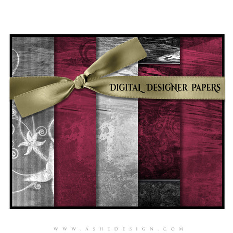 Digital Designer Paper Set - Steel Magnolia