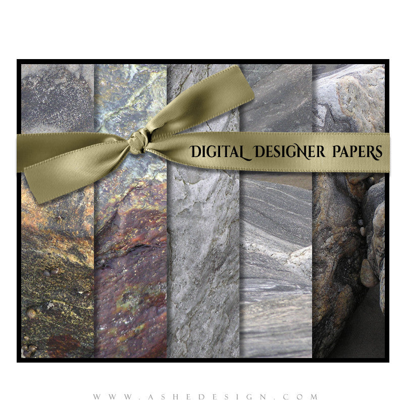 Digital Designer Paper Set - Stone