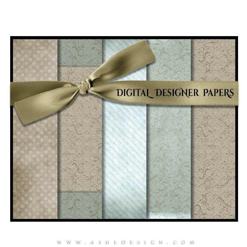 Digital Designer Paper Set - Sweet Romance