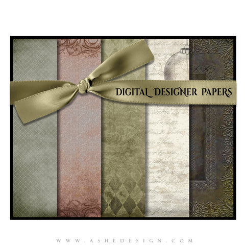 Digital Designer Paper Set - The Night Before Christmas