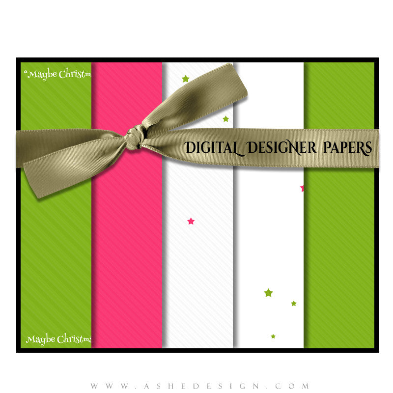 Digital Designer Paper Set - Whimsical Christmas