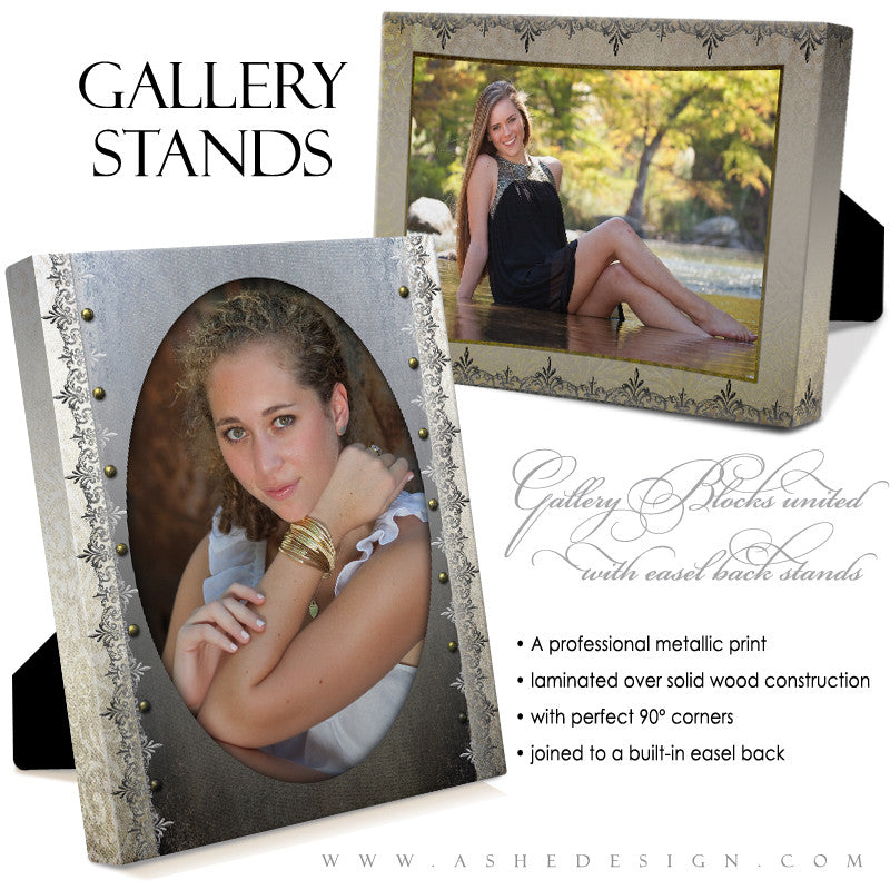 Gallery Stand Design (5x7) - Antique Damask