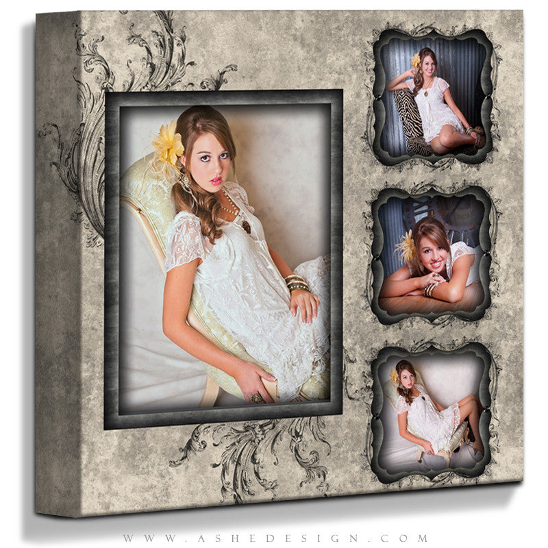 Ashe Design | Gallery Wrap Template 16x16 | Timeless Beauty