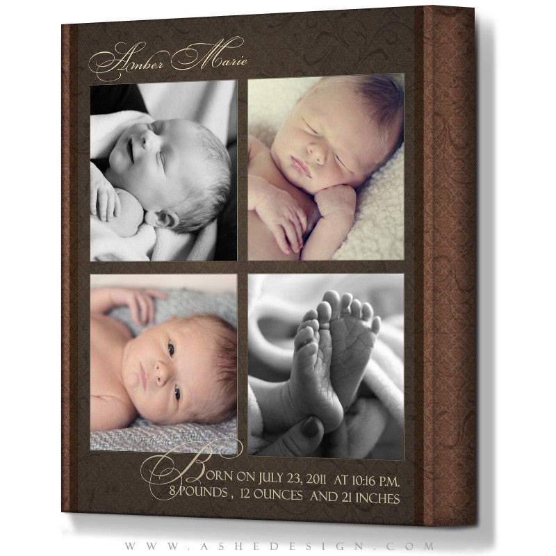 Ashe Design | Gallery Wrap 16x20 Template | Amber Marie