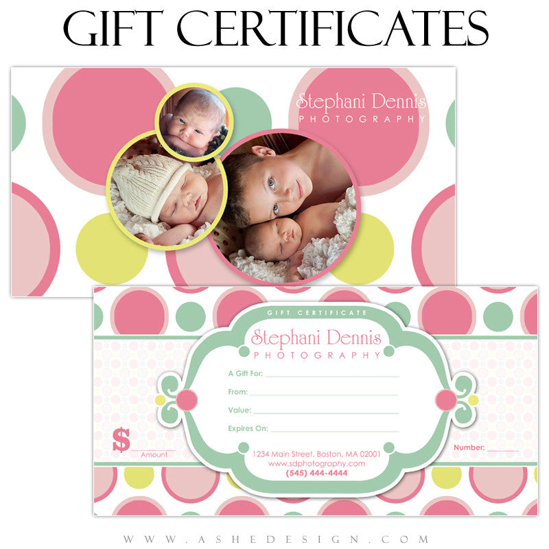 Gift Certificate Designs - Bubble Gum