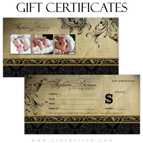 Gift Certificate Designs - Rejoice