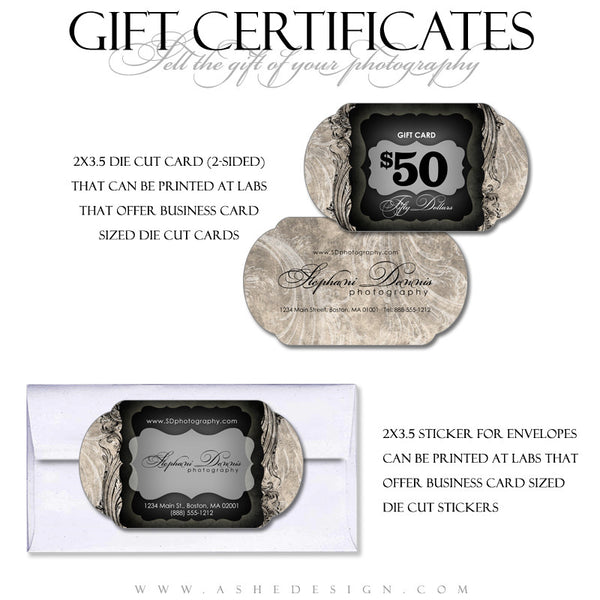Gift Certificate Designs - Timeless Beauty