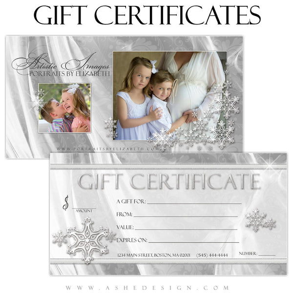Gift Certificate Designs - White Christmas