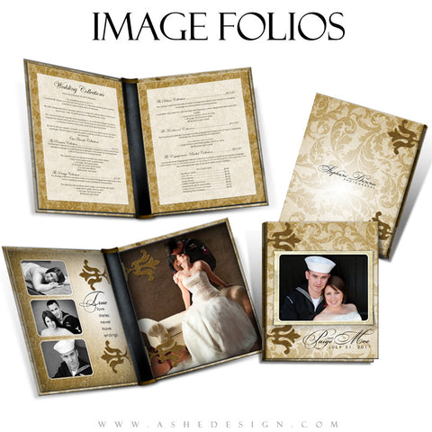 Image Folio Design - Gold Leaf