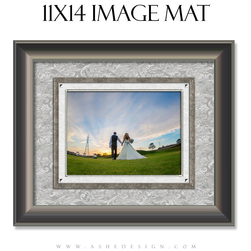 Image Mat Design (11x14) - White Wedding