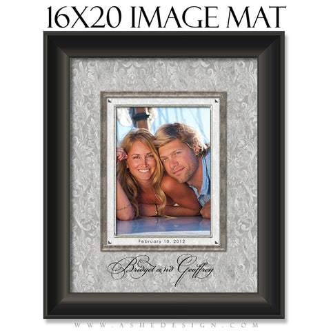 Image Mat Design (16x20) - White Wedding