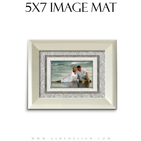Image Mat Design (5x7) - White Wedding