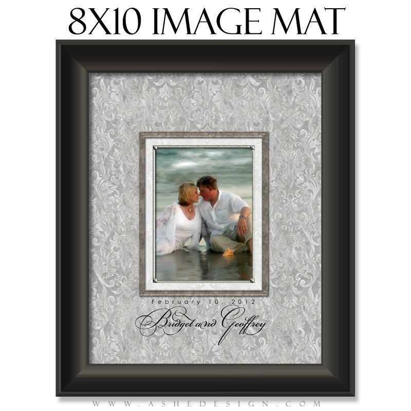Image Mat Design (8x10) - White Wedding