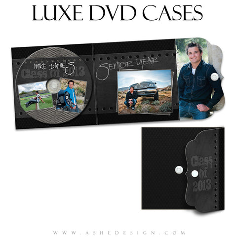 Luxe DVD Case & Label Designs - Black Leather